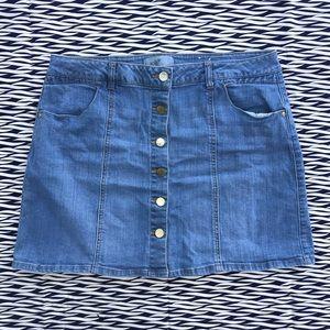 Jolt Denim Miniskirt ~ B29